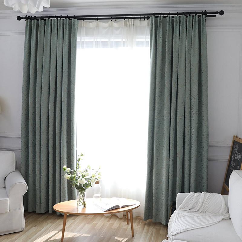 Vải rèm cửa Rèm cửa mới Rèm cửa tối giản hiện đại chenille jacquard