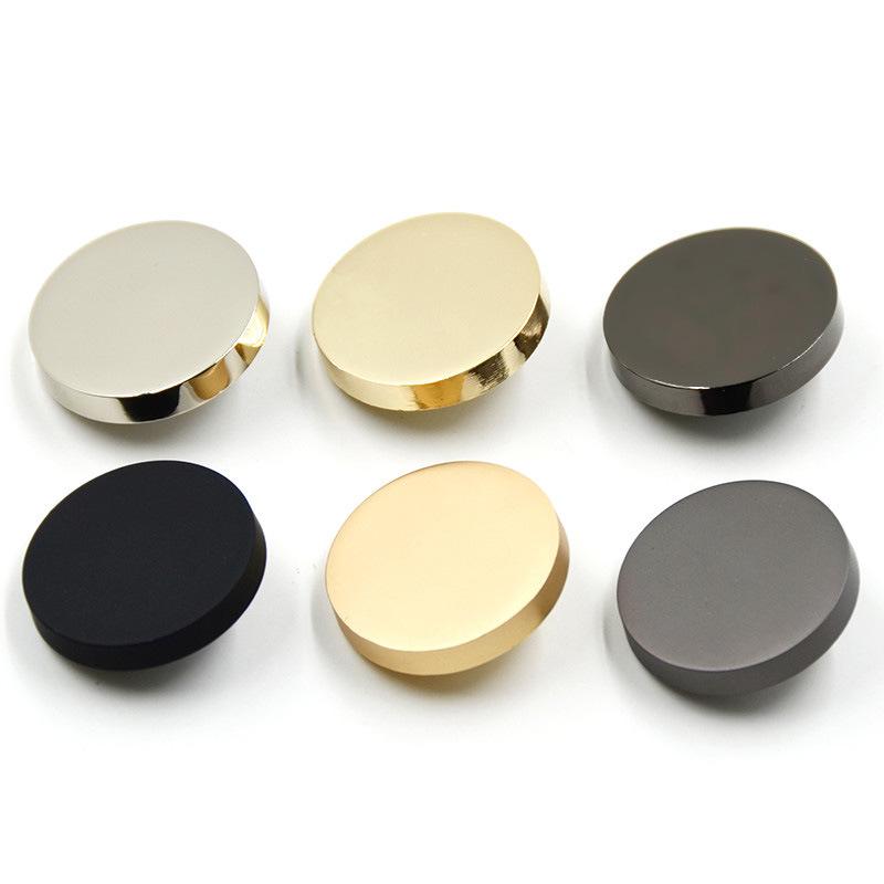 Wedoo Nút kim loại phụ kiện quần áo nút vàng phẳng áo phù hợp với áo xuống nút áo khoác