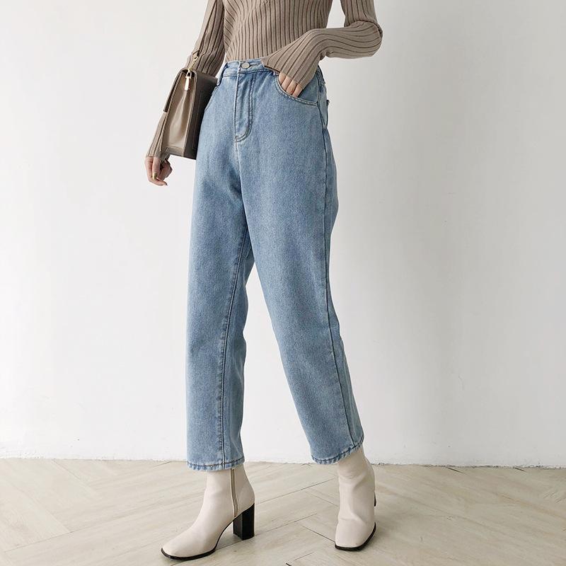 Thời trang nữ Quần jean nữ , quần nhung giản dị W231D