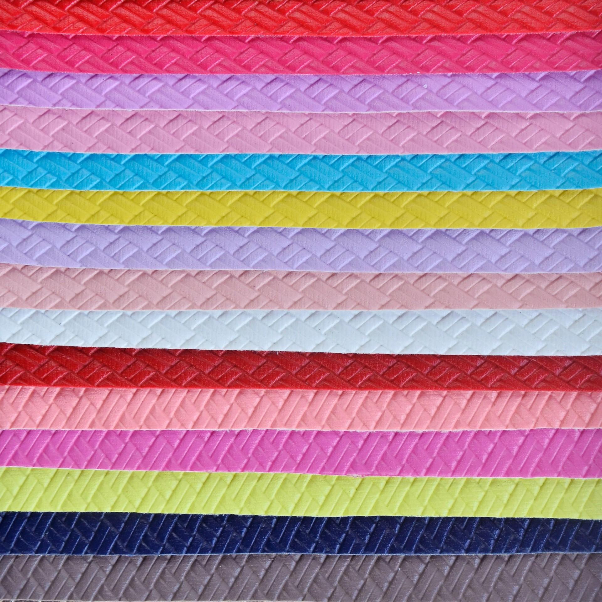 DINGMAO Simili tổng hợp Da Đinh Đao PVC dập nổi da retro đơn sắc dệt hoa văn trang trí hành lý nhân