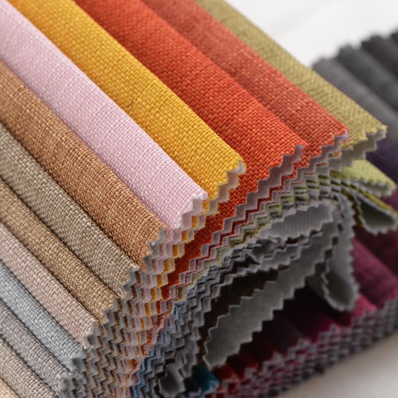 HEMEI Vải Cotton pha Mới cao cấp dày đồng bằng vải lanh giả vải lanh sofa vải pha trộn kỹ thuật vải