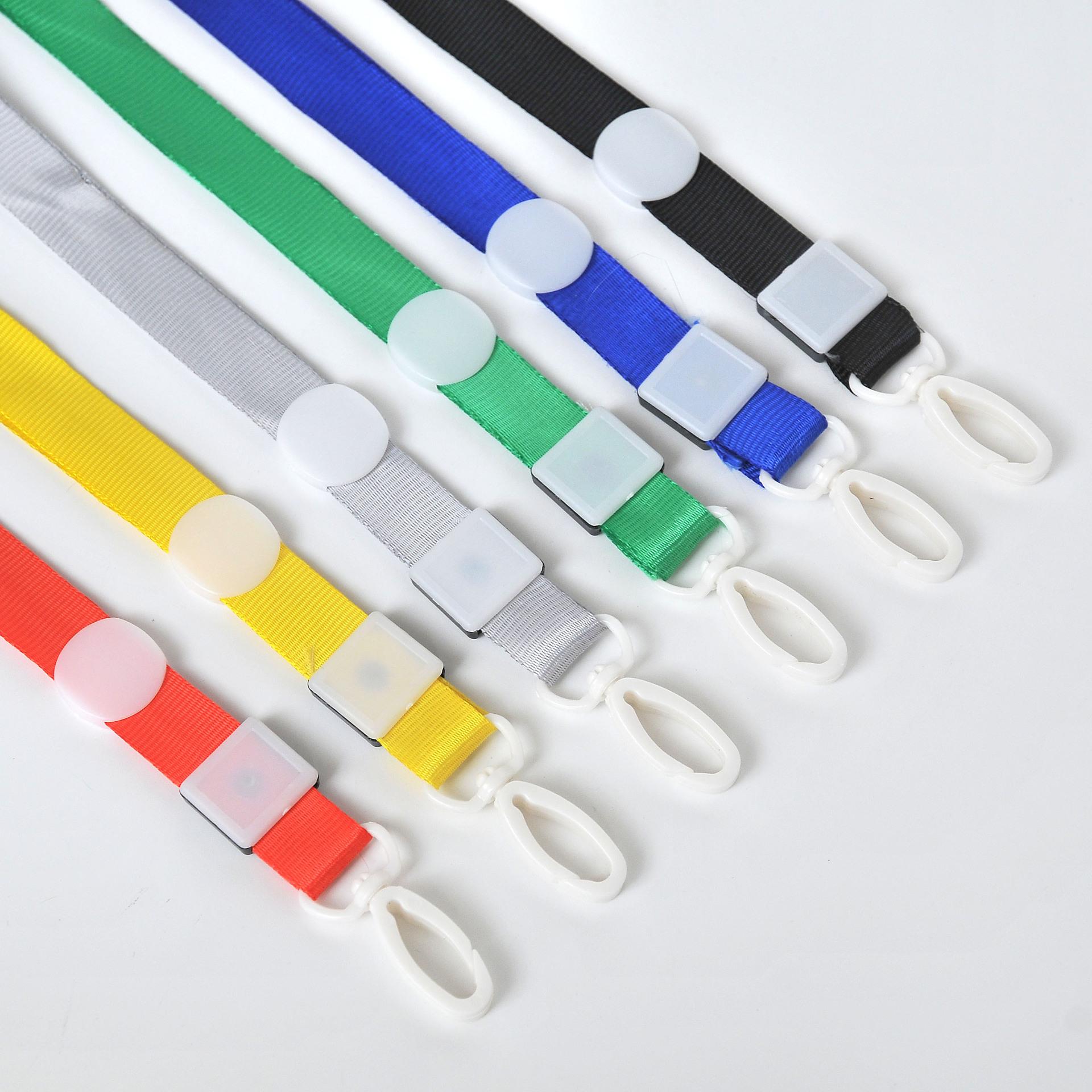 MEILI dây đeo Dây buộc tùy chỉnh 1,5cm móc nhựa in logo huy hiệu thẻ dây chứng nhận dây triển lãm dâ