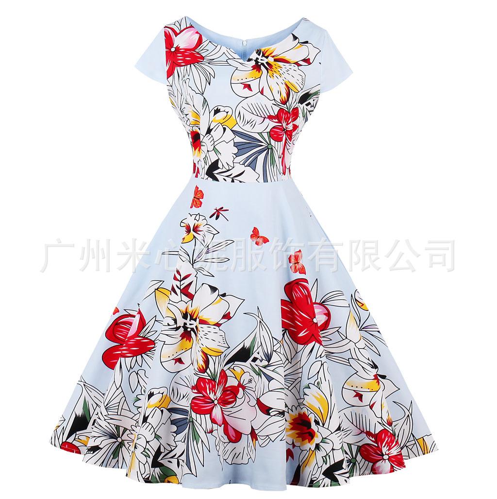 MIXINNI Đầm 2017 Váy cổ chữ V không tay bán chạy nhất 1567