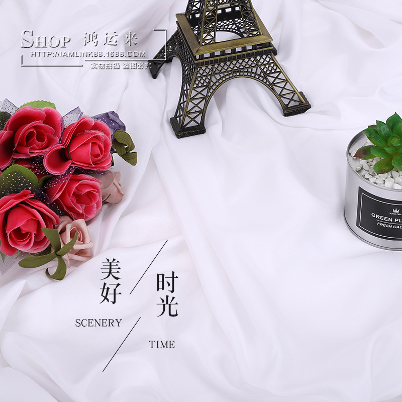 HONGYUNLAI vải mộc Nhà sản xuất rộng 2,3 mét chà nhám nhà dệt dệt Chun Yafang vải màu xám chụp ảnh n