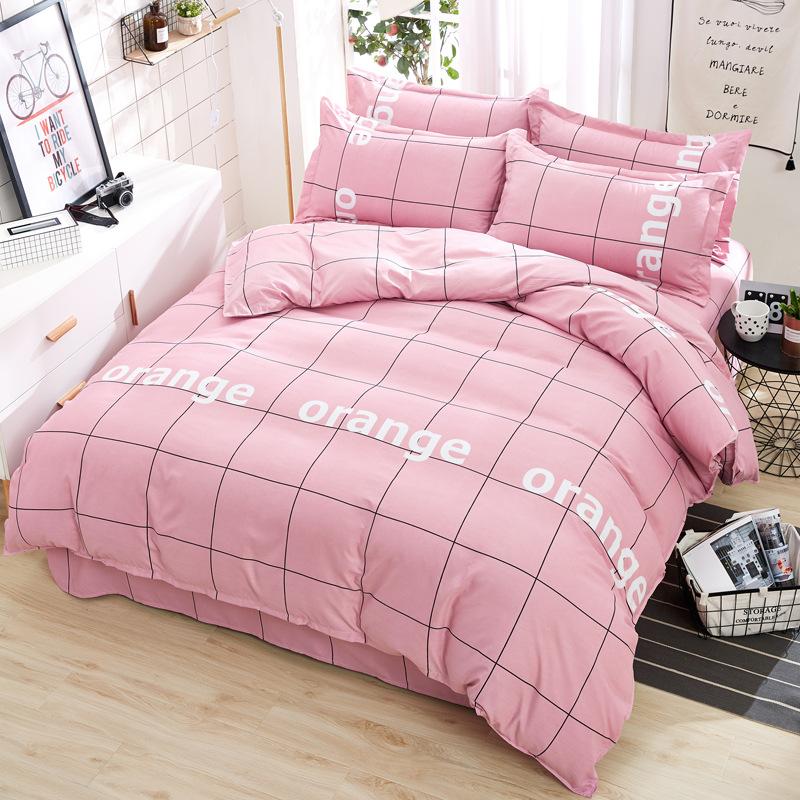 Shuxing Bộ Drap giường chất liệu cotton