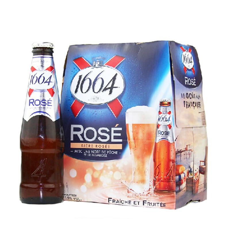 KAIXUAN NLSX bia Bia Pháp Kronborg Triumph 1664 Rose White Bia 250ml * 24 chai