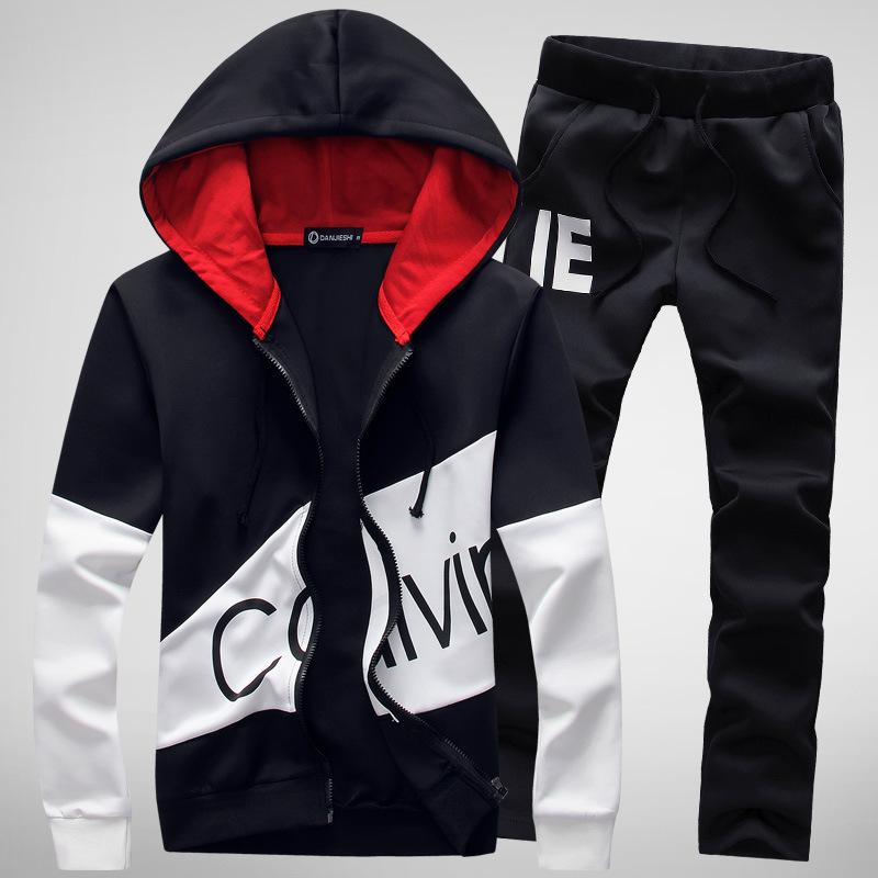 Áo khoác nam có mũ trùm và quần lưng thun dài Calvin Klein