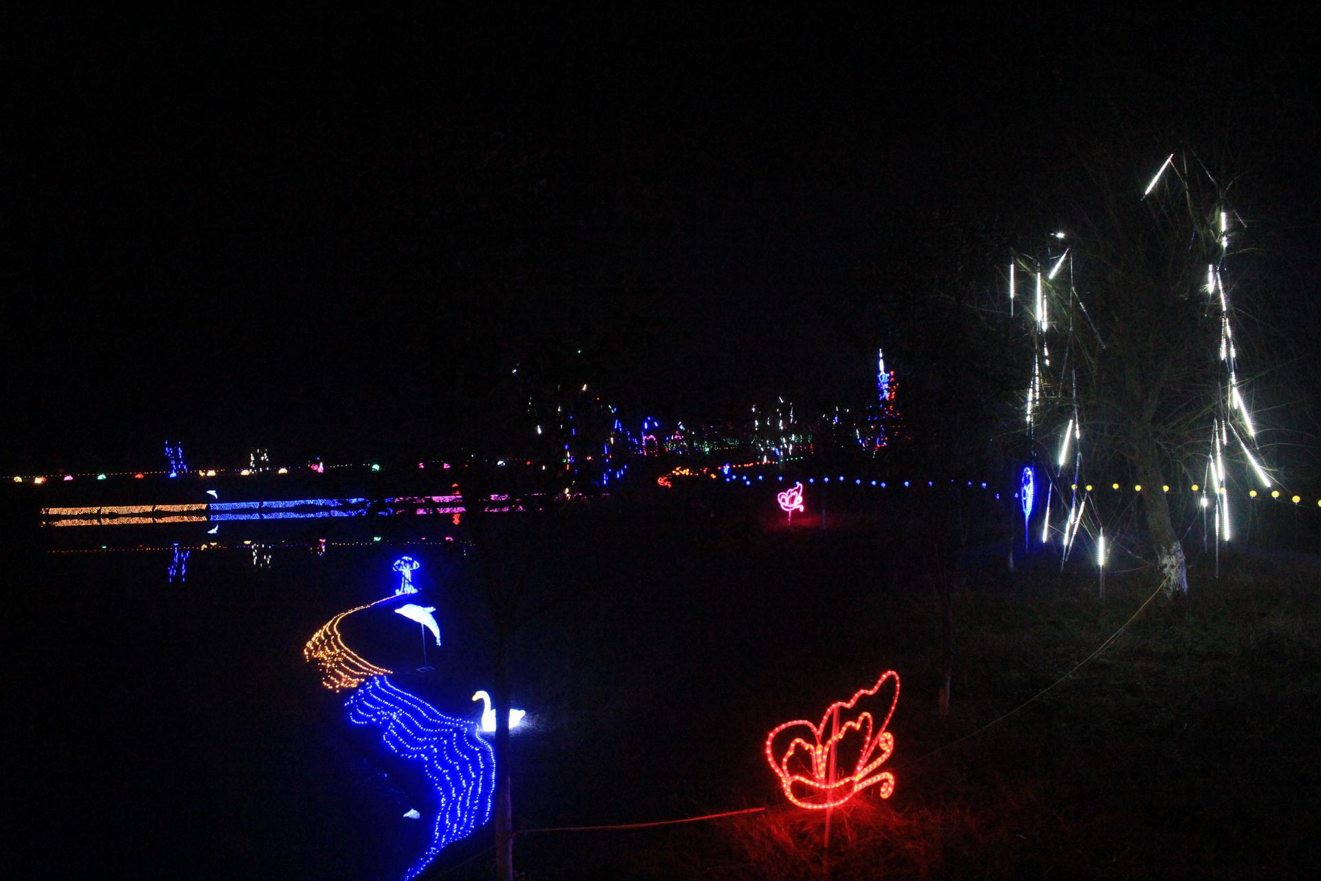 Đèn LED âm nước 2017 Fantasy lễ hội ánh sáng tạo ra ánh sáng triển lãm ngâm vỏ loại vòi phun nước đè
