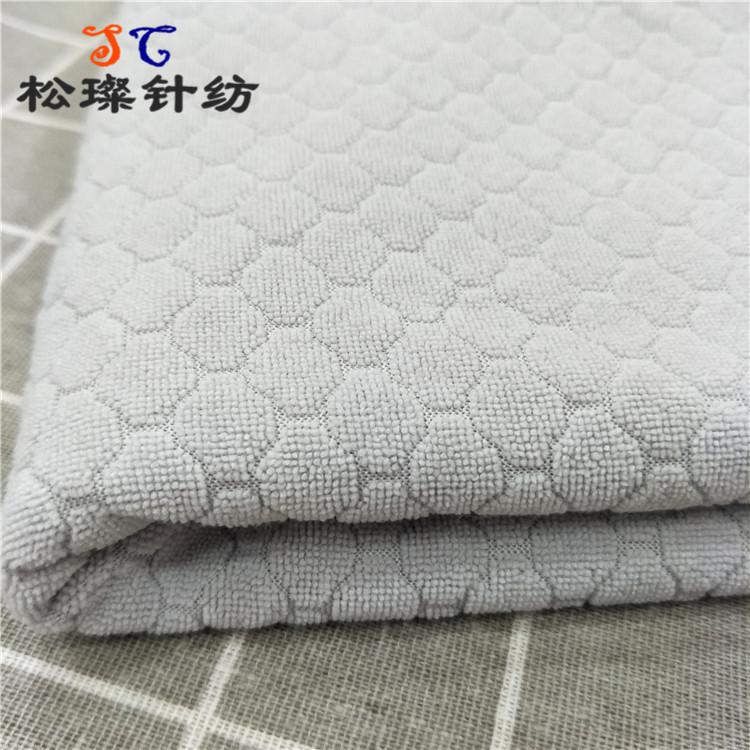 SONGZHEN Vải khăn lông Cung cấp jacquard terry vải sợi ngang đan một mặt dứa jacquard đan vải khăn v