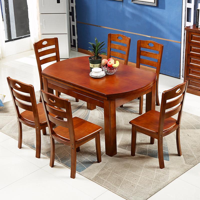 Nội thất Bàn Ăn Bằng gỗ rắn , Thiết Kế Đơn  giản , có 2 kiểu bàn tròn hoặc hình chữ nhật .