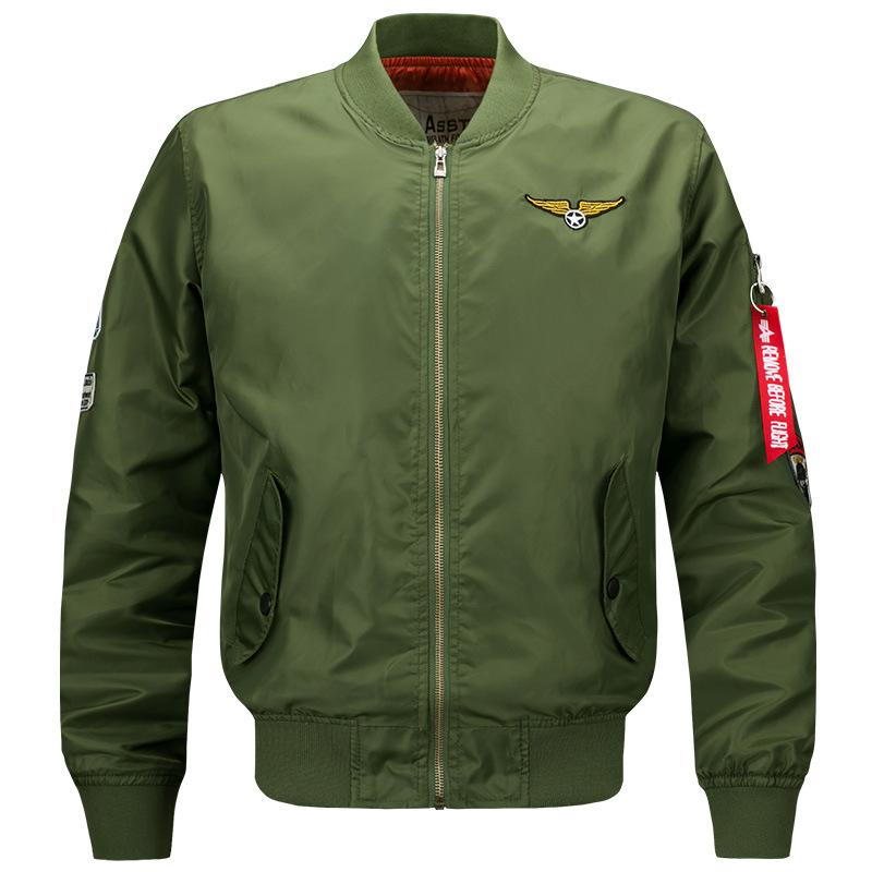 Áo khoác 2108 mùa xuân cỡ lớn nam thể thao và giải trí đứng áo khoác cổ áo Không quân Hoàng gia số 1