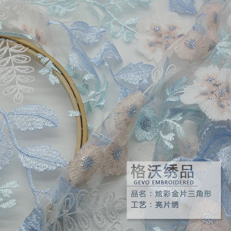 GEWO Vải thêu Vải lưới thêu gốc Quần áo của phụ nữ sữa lụa hoa lớn thêu vải nhà máy bán hàng trực ti