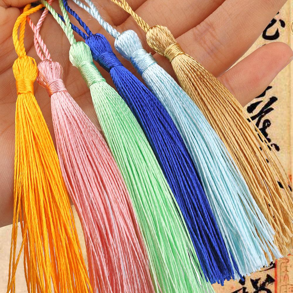 DILI sợi tua Off-the-shelf 25 màu sắc 8 cm rìa dài rìa gai 15 cm tổng chiều dài tua