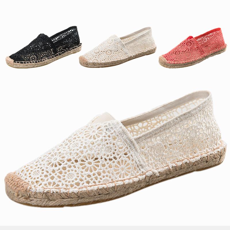 Giày Lười bằng Vải Ren dành cho Nữ , màu Trắng , đen .