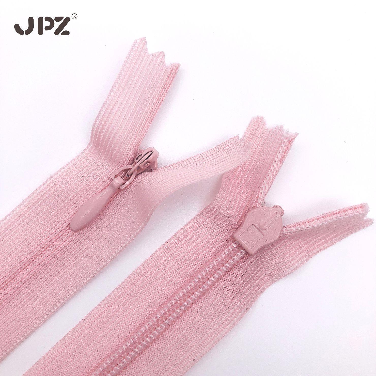 JPZ Dây kéo Nylon Nhà sản xuất bán buôn thứ 3 ren vô hình dây kéo nylon vải cạnh gối gối dây kéo có