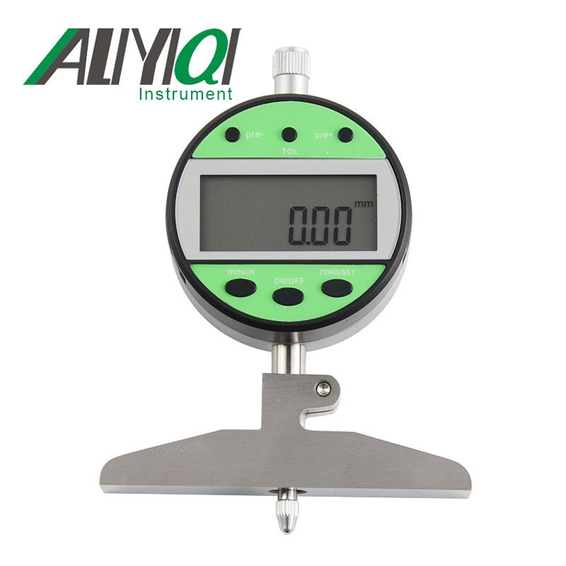 ALIYIQI Dụng cụ đo độ sâu, độ cao Bảng độ sâu kỹ thuật số 0-100 phôi di động bên trong rãnh sâu độ s