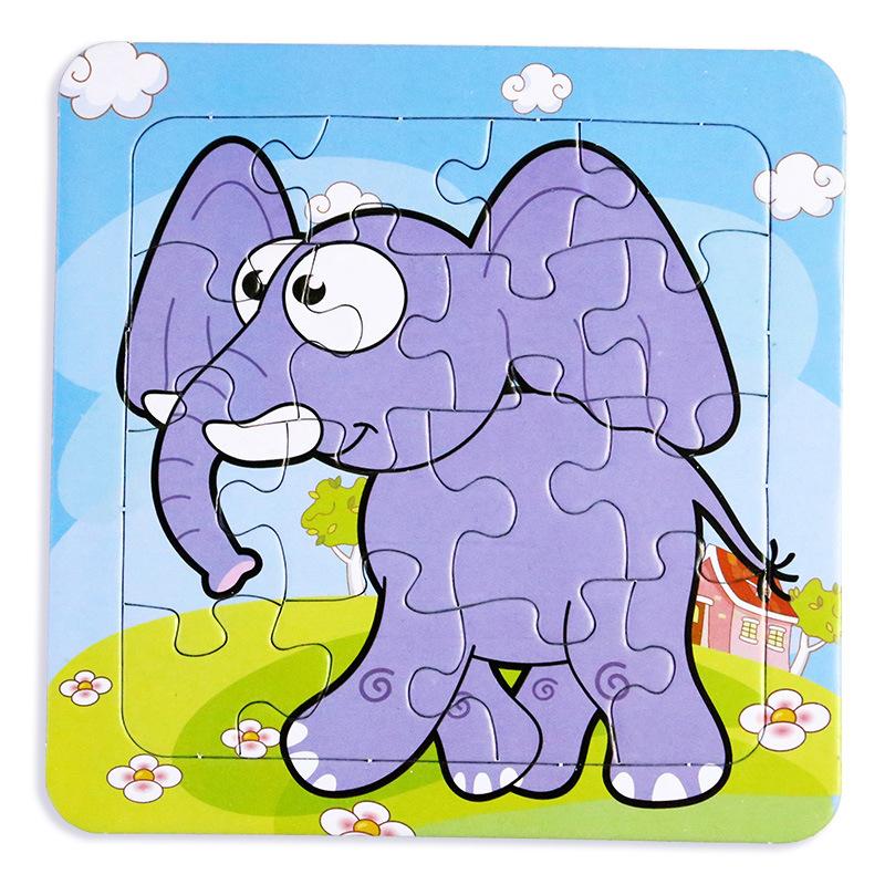 Hãng MAICAO - Đồ chơi Puzzle trẻ em , khung giấy xếp hình cho bé .