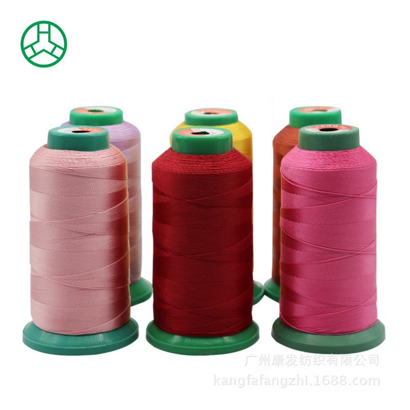 KANGFA Chỉ may Nhà sản xuất Quảng Đông 4 cổ phiếu sofa da polyester dòng cường độ cao May đường may