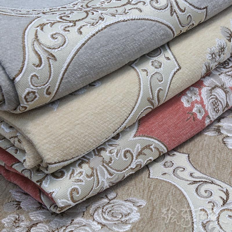 YOULING Vải Yarn dyed / Vải thun có hoa văn Vải chenille sợi dày theo phong cách châu Âu Rèm vải Jac