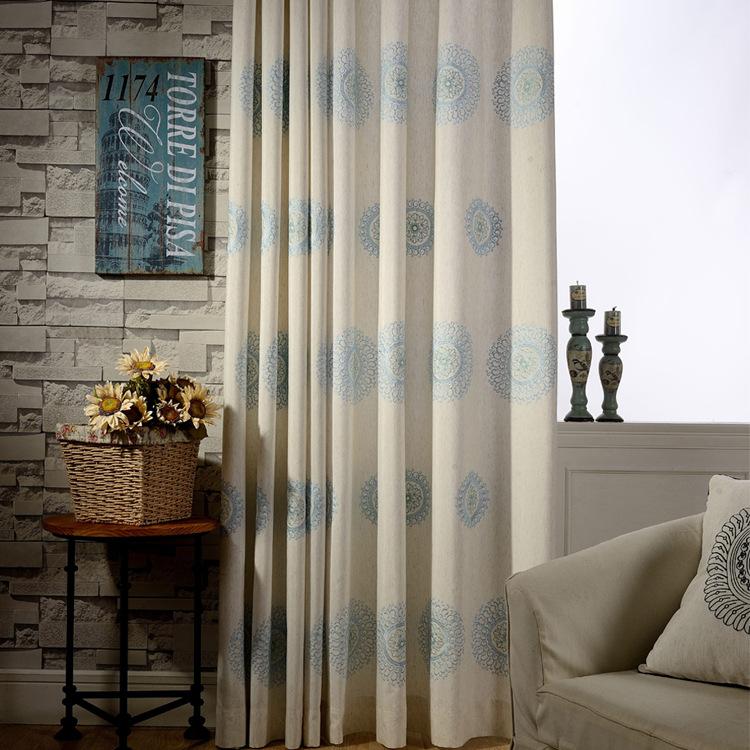 QIANHUANG Vải rèm cửa [Reunion] nhà máy trực tiếp rèm vải hiện đại tối giản Trung Quốc rèm bông và v