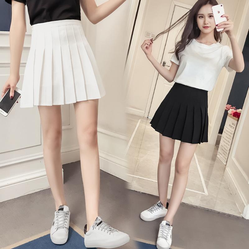 Chân Váy Xòe Xếp Li  Đơn giản nhẹ nhàng có 2 màu .