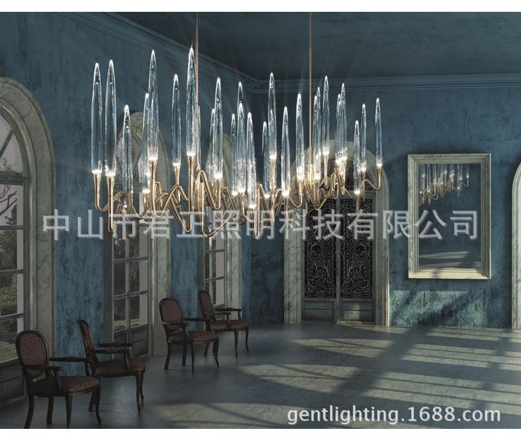 Đèn trang trì Tiền sảnh 00 bộ đèn sáng tạo nghệ thuật tạo hình câu lạc bộ đang được chọn sau nước đi