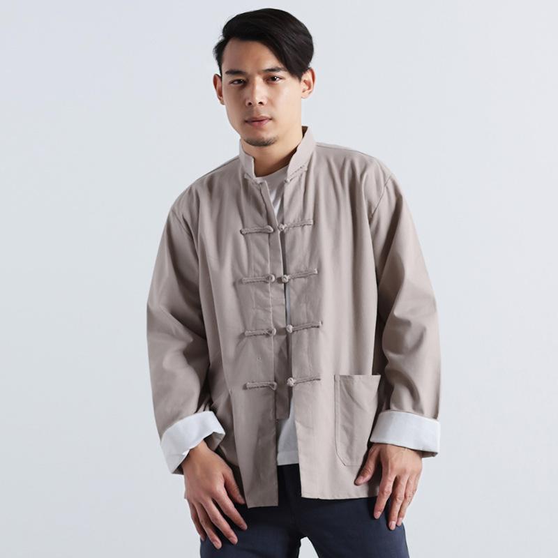 Áo kiểu Cổ Trang Trung Quốc ,  cổ áo đứng cho Nam , Áo kiểu cardigan .