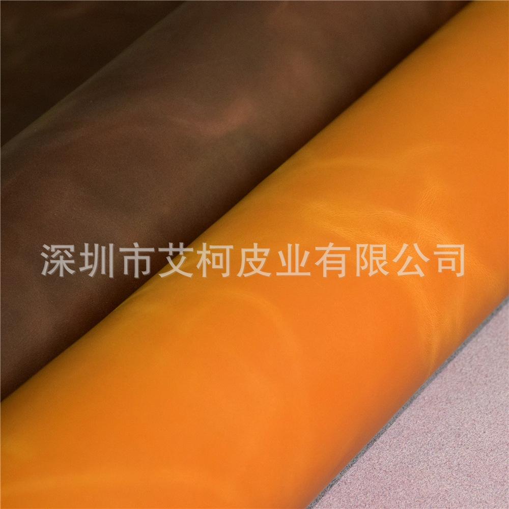 AIKE Da bò Da da hai lớp điên ngựa thay đổi áp suất da có thể giặt được túi dầu hành lý cổ điển túi
