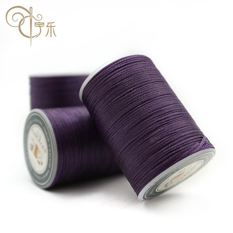 YULE Chỉ may Tại chỗ bán buôn nhỏ cuộn dây sáp phẳng 0.8mm Chỉ may polyester dòng cường độ cao 16 cổ