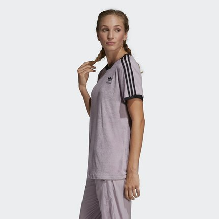 Adidas Áo thun Adidas chính thức Adidas clover 3 áo sơ mi nữ tay ngắn TEIPES TEE DU9598