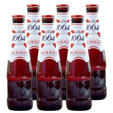 KAIXUAN 1664 NLSX bia 24 chai bia nhập khẩu Pháp 1664 quả mâm xôi đỏ Bia 250ml trái cây