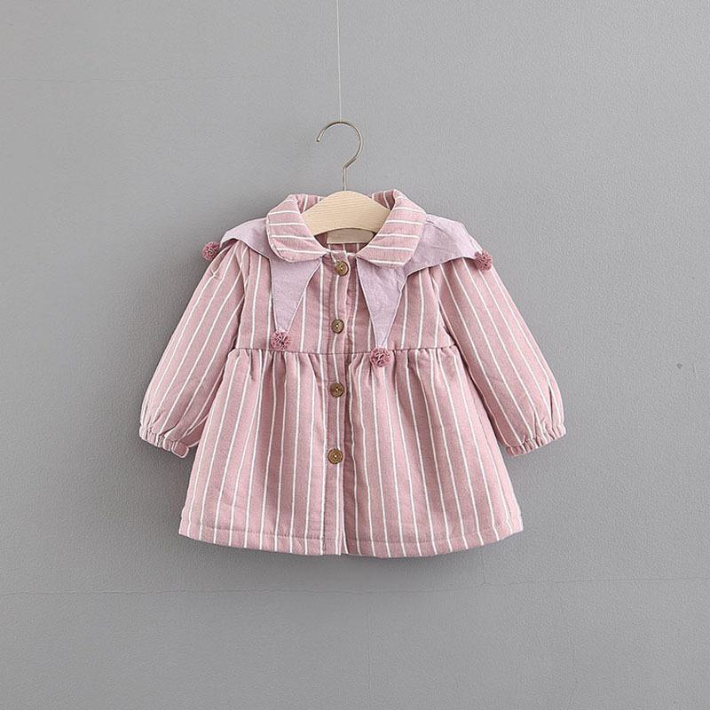 Váy bé gái mùa thu và sọc 0-3 tuổi bé cộng với váy công chúa nhung nhung 1 thế hệ 1E84014