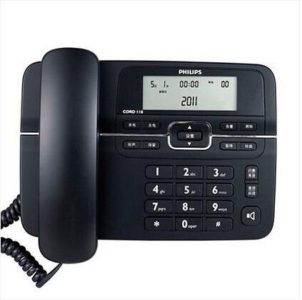 Philips Điện thoại cố định mới Philips CORD 118 điện thoại cố định văn phòng điện thoại cố định miễn