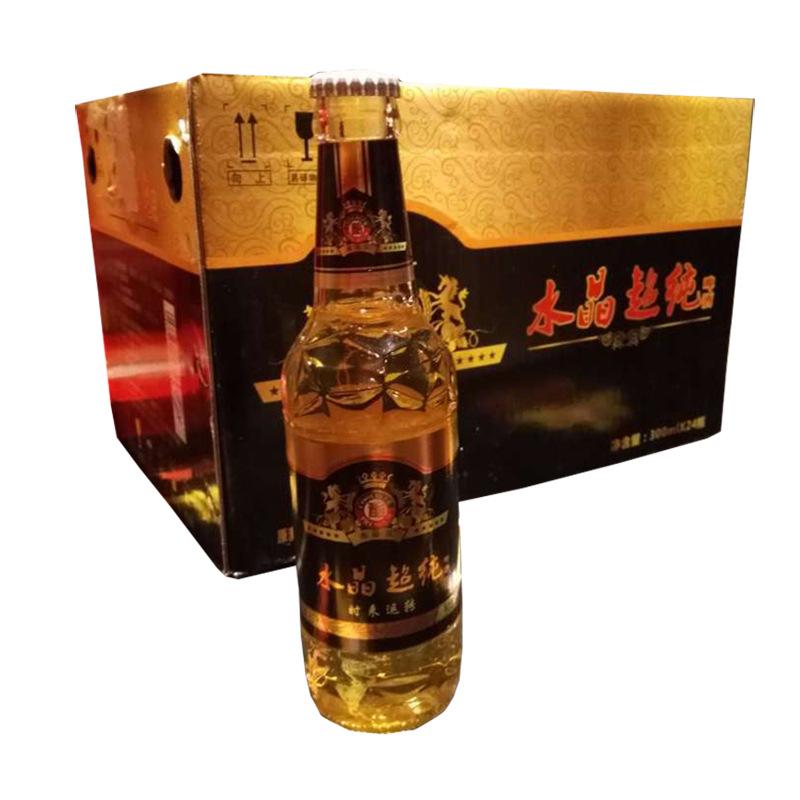 NLSX bia Crystal Super Pure Night Nhà máy bán buôn bia trực tiếp 300ml 24 chai bia Trùng Khánh Bia C