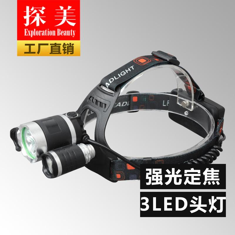 TANMEI Đèn điện, đèn sạc Bán buôn 3T6 tấn công đầu đèn pin chói đèn pha sạc pin đèn pha công suất ca