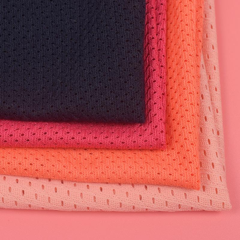 SHICHANG Vải lưới Thiết kế rỗng nhiều màu mới có độ co giãn thấp mắt chim vải túi thể thao thoải mái