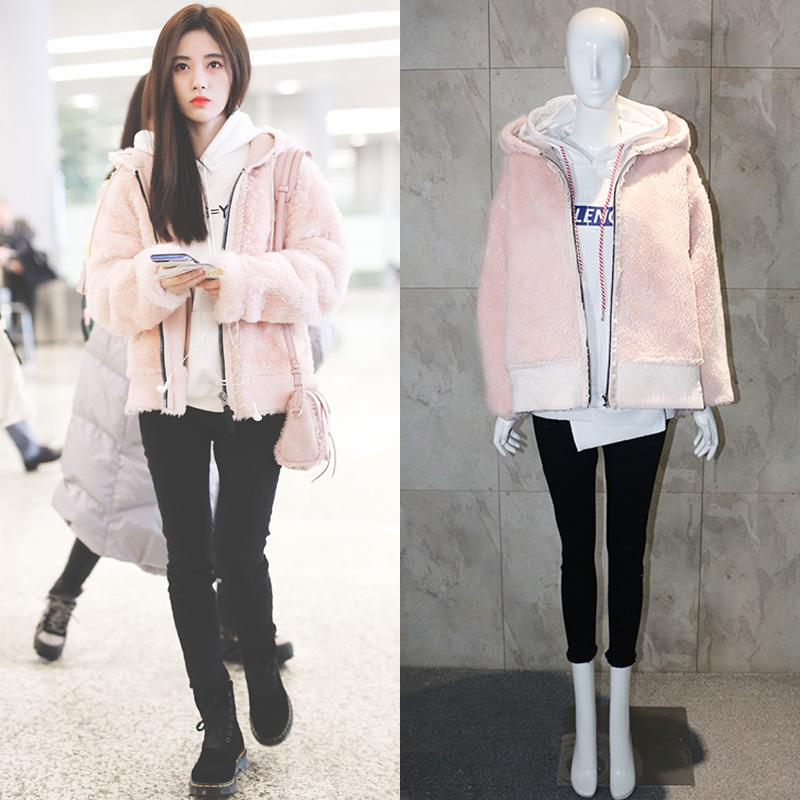 Áo khoác lông Thời Trang màu hồng
