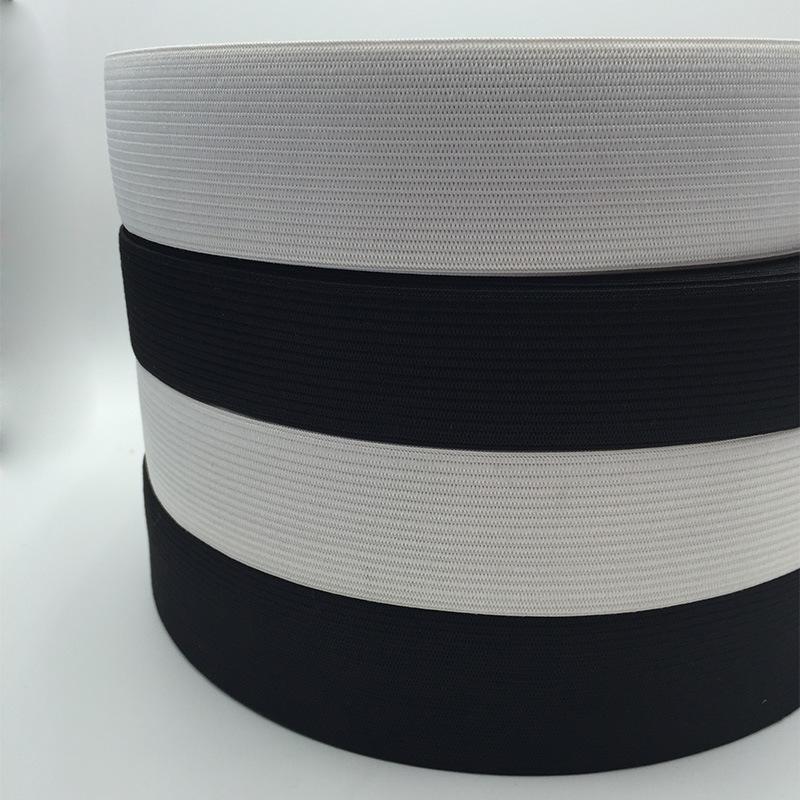 MENGDUO Dây thun Đốm đen trắng cao 1,5-6cm móc đàn hồi dây thun đàn hồi đan phụ kiện quần thun