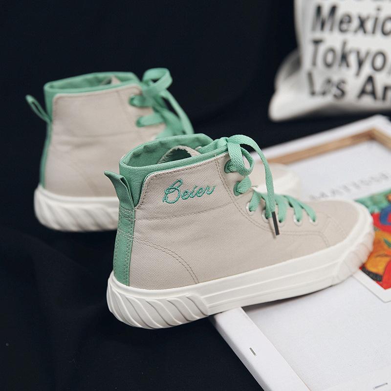 BEIER - Giày Thời Trang Thể Thao Năng Động cho Nữ , kiểu cổ cao .