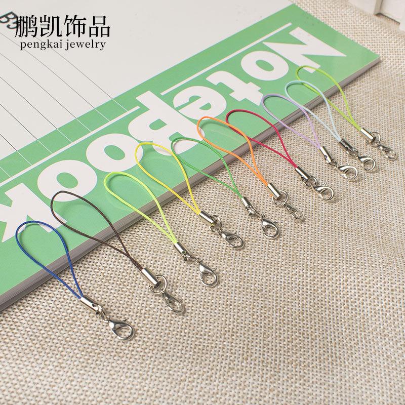 Pengkaijewelry dây đeo Tự làm phụ kiện thủ công vật liệu tôm hùm khóa điện thoại di động dây trang s