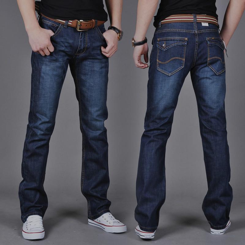 JEANS Quần Mô hình bùng nổ một thế hệ của 6699 quần jean nam thẳng mỏng thanh niên phổ biến thời tra