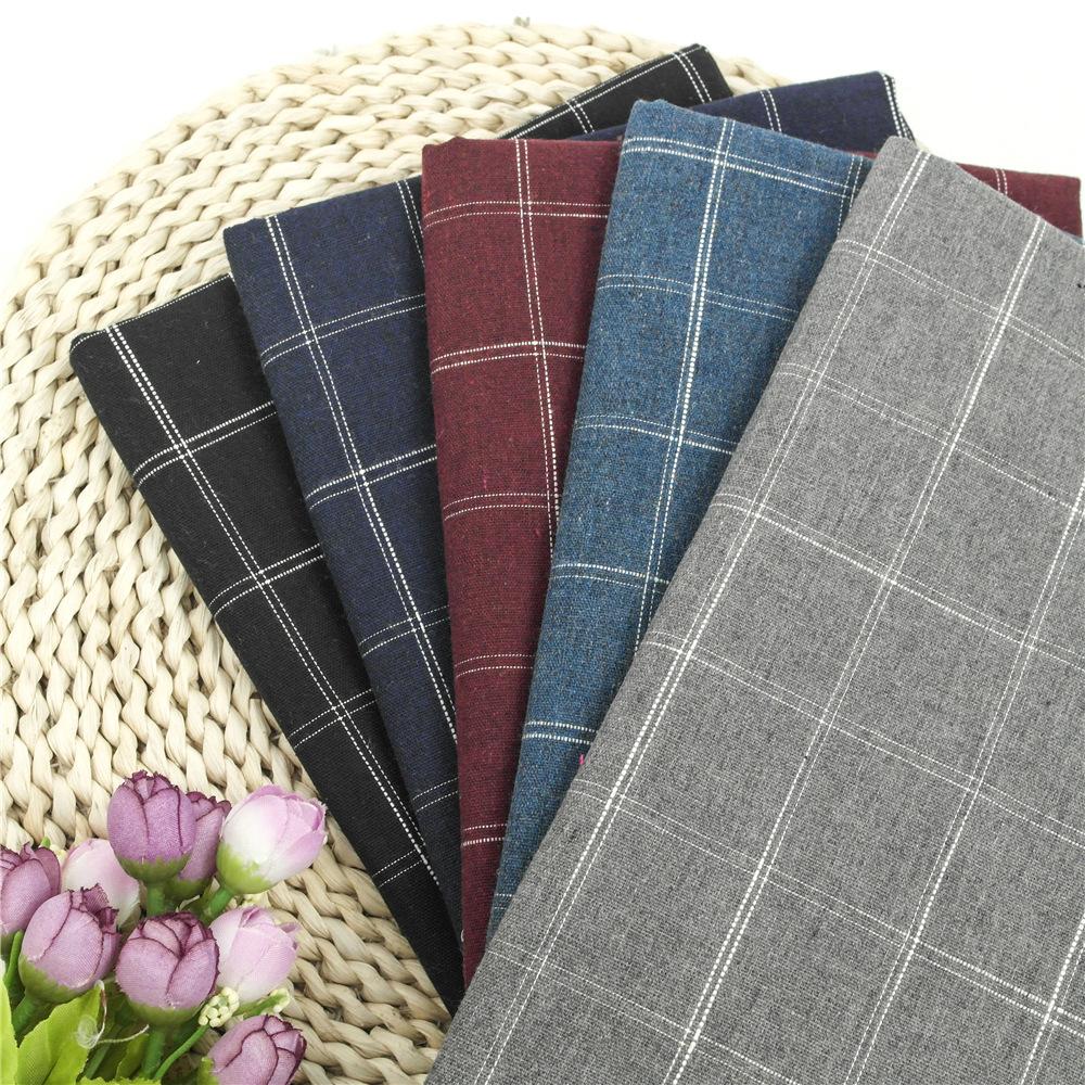 BOFAN Vải Cotton pha Nhà máy vải lanh trực tiếp dệt vải cotton và vải lanh pha trộn vải kẻ sọc mùa x