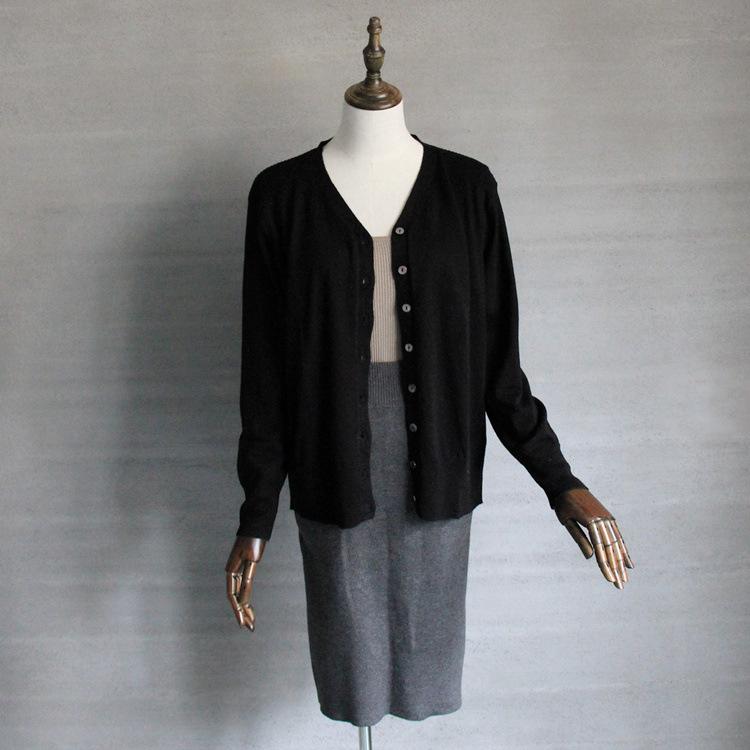 Áo khoác chống nắng cardigan nữ mùa hè , vải Len Tay dài .