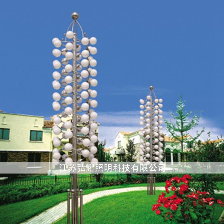 Đèn LED chiếu sáng công Cảnh quan sân Ánh sáng đèn 3 mét, 4 mét vuông nằm ngang bên quảng trường đạo