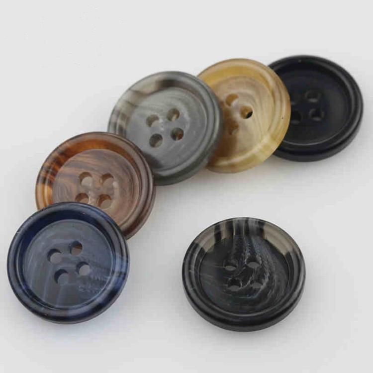 Nút nhựa cao cấp màu đen nút bốn mắt phù hợp với áo khoác gió nam và nữ phù hợp với nút áo khoác