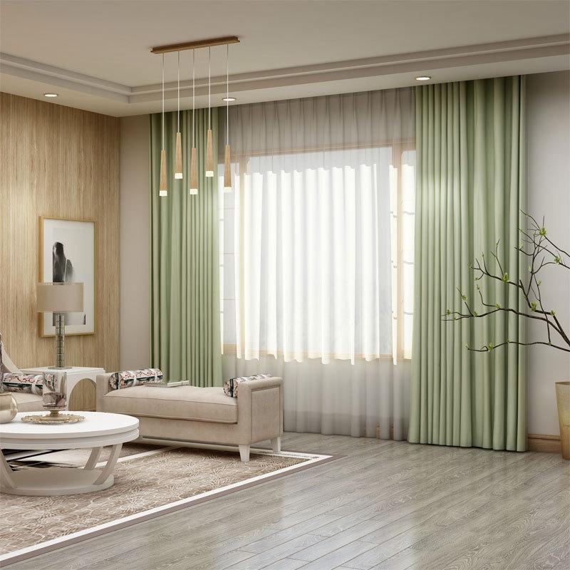 LAOWANTONG Vải rèm cửa Rèm vải nhà máy trực tiếp màu rắn độ chính xác cao màn vải bán buôn cửa sổ ph