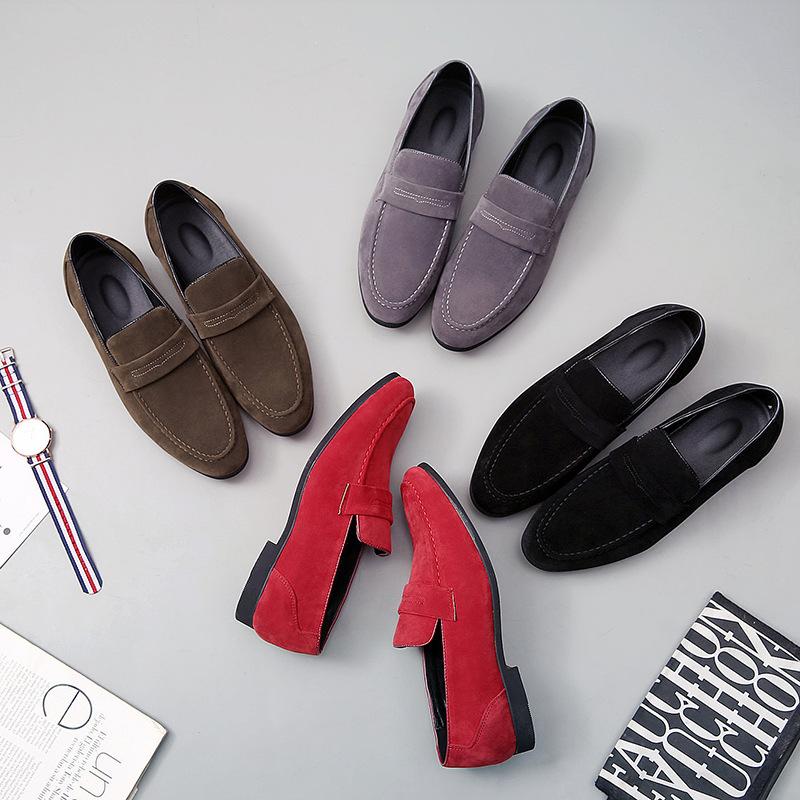 Giày mọi Gommino da Lộn dành cho Nam .