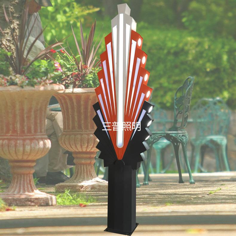 Đèn LED hình Quạt đèn cảnh quan sân vườn