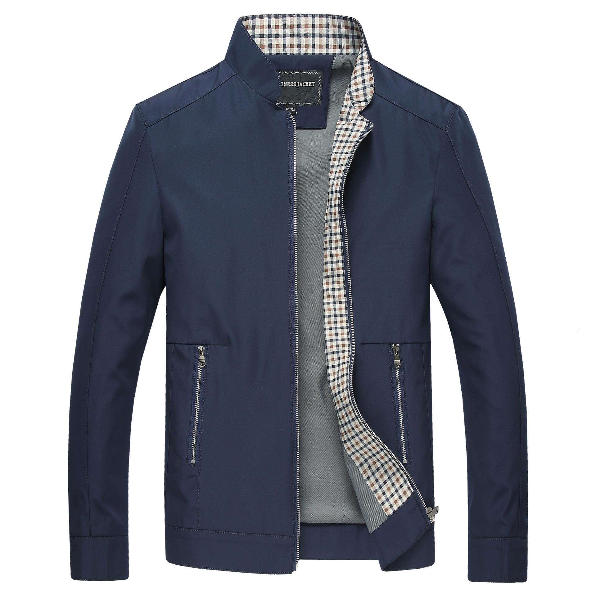 YITAO Áo khoác nam 2018 mới bán buôn mùa xuân và mùa thu đứng cổ áo khoác nam trung niên áo khoác mỏ