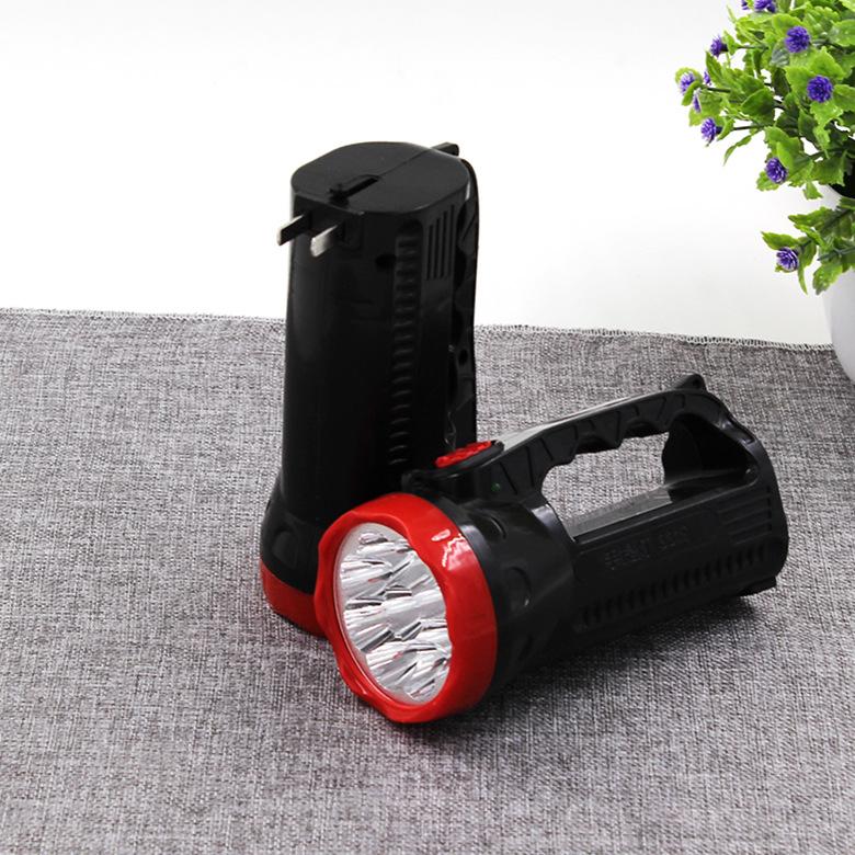Đèn điện, đèn sạc T DB07 3319 Đèn LED tìm kiếm 9 bóng đèn LED có thể sạc lại ánh sáng chói cực sáng